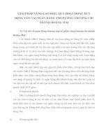 GIẢI PHÁP NÂNG CAO HIỆU QUẢ HOẠT ĐỘNG HUY ĐỘNG VỐN TẠI NGÂN HÀNG TMCP CÔNG THƯƠNG CHI NHÁNH HOÀNG MAI