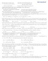 Bài giảng Đề thi thử ĐH Môn Vật lý _ Đề số 5