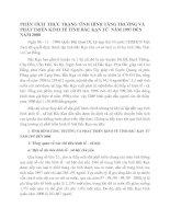 PHÂN TÍCH  THỰC TRẠNG TÌNH HÌNH TĂNG TR¬ƯỞNG VÀ PHÁT TRIỂN KINH TẾ TỈNH BẮC KẠN TỪ  NĂM 1997 ĐẾN NĂM 2000