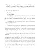 GIỚI THIỆU TỔNG QUAN VỀ TỈNH ĐỒNG THÁP VÀ TÌNH HÌNH CƠ BẢN CỦA NGÂN HÀNG NÔNG NGHIỆP VÀ PHÁT TRIỂN NÔNG THÔN HUYỆN LẤP VÒ