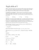 Bài soạn Các tuyệt chiêu giải nhanh bài tập hóa học
