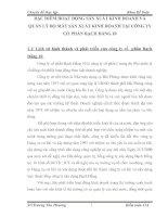 ĐẶC ĐIỂM HOẠT ĐỘNG SẢN XUẤT KINH DOANH VÀ QUẢN LÝ BỘ MÁY SẢN XUẤT KINH DOANH TẠI CÔNG TY CỔ PHẦN BẠCH ĐẰNG 10