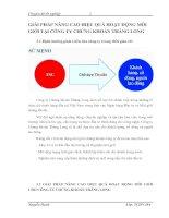 GIẢI PHÁP NÂNG CAO HIỆU QUẢ HOẠT ĐỘNG MÔI GIỚI TẠI CÔNG TY CHỨNG KHOÁN THĂNG LONG