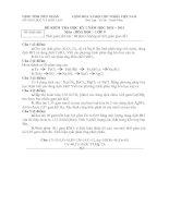 Tài liệu Hóa học 9 (HK1_2010-2011)