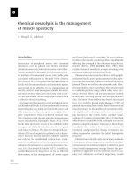 Chemical neurolysis in the management of muscle spasticity