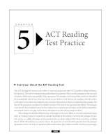 ACT Reading Test Practice