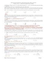 Bài giảng Lời giải chi tiết Đề thi Tuyển ĐH 2010