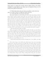 GIẢI PHÁP VÀ KHUYẾN NGHỊ NHẰM TRIỂN KHAI TÔT HƠN NGHIỆP VỤ BẢO HIỂM VẬT CHẤT XE CƠ GIỚI Ở CÔNG TY CỔ PHẦN BẢO HIỂM THÁI SƠN