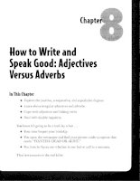 How to Write and Speak Good - Adjectives Versus Adverbs