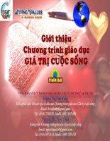 Chuong trinh giao duc gia tri song Phan 2