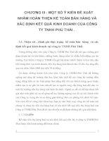 Một số ý kiến đề xuất nhằm hoàn thiện kế toán bán hàng  và xác định kết quả kinh doanh tại công ty TNHH Phú Thái