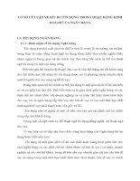 CƠ SỞ LÝ LUẬN VỀ RỦI RO TÍN DỤNG TRONG HOẠT ĐỘNG KINH DOANH CỦA NGÂN HÀNG