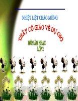 Gián án Ôn tập bài hát: Chú chim nhỏ dể thương