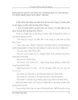 KHÁI QUÁT CHUNG VỀ CễNG TU CỔ PHẦN ĐẦU TƯ XÂY DỰNG VÀ PHÁT TRIỂN HẠ TẦNG PHÚC THÀNH