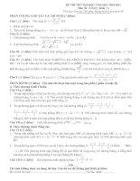 Gián án Đề 3- thi thử đại học- Lời giải chi tiết