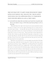 MỘT SỐ NHẬN XÉT VÀ KIẾN NGHỊ NHẰM HOÀN THIỆN KIỂM TOÁN KHOẢN MỤC DOANH THU TRONG KIỂM TOÁN BÁO CÁO TÀI CHÍNH DO CÔNG TY TNHH KIỂM TOÁN PHƯƠNG ĐÔNG ICA