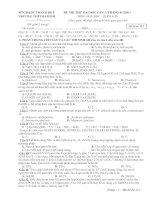 Bài giảng Đề và Đáp án môn Hóa học