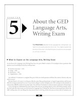 About the GED Language Arts,Writing Exam