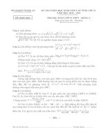 Bài soạn Đề thi HSG Tỉnh An Nghệ môn Toán 12A