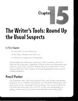 The Writer''s Tools - Round Up the Usual Suspects