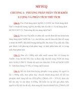 Bài tập hóa phân tích (bài giải ở trang thứ 10 nhé)