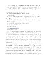 THỰC TRẠNG HOẠT ĐỘNG ĐẦU TƯ PHÁT TRIỂN TẠI CÔNG TY TNHH NHÀ NƯỚC MỘT THÀNH VIÊN XÂY LẮP HOÁ CHẤT (GỌI TẮT LÀ CÔNG TY XÂY LẮP HOÁ CHẤT) TRONG THỜI GIAN QUA