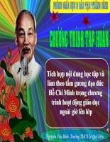 Tài liệu Tích hợp học tập và làm theo tấm gương đạo đức Hồ Chí Minh