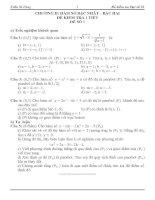 Bài giảng Kiểm tra 1 tiết Đại số 10 chương 2