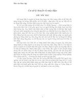 Báo cáo thực tập - Cơ sở lý thuyết về máy điện