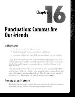 Punctuation - Commas Are Our Friends