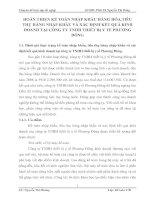 HOÀN THIỆN KẾ TOÁN NHẬP KHẨU HÀNG HÓA,TIÊU THỤ HÀNG NHẬP KHẨU VÀ XÁC ĐỊNH KẾT QUẢ KINH DOANH TẠI CÔNG TY TNHH THIẾT BỊ Y TẾ PHƯƠNG ĐÔNG