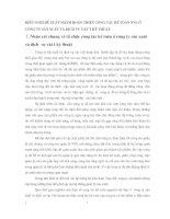 KIẾN NGHỊ ĐỀ XUẤT NHẰM HOÀN THIỆN CÔNG TÁC KẾ TOÁN NVL Ở  CÔNG TY SẢN XUẤT VÀ DỊCH VỤ VẬT TƯ KỸ THUẬT