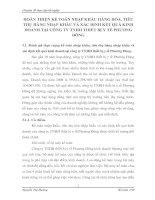 HOÀN THIỆN KẾ TOÁN NHẬP KHẨU HÀNG HÓA, TIÊU THỤ HÀNG NHẬP KHẨU VÀ XÁC ĐỊNH KẾT QUẢ KINH DOANH TẠI CÔNG TY TNHH THIẾT BỊ Y TẾ PHƯƠNG ĐÔNG