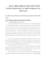 HOÀN THIỆN PHƯƠNG PHÁP PHÂN TÍCH CƠ BẢN TRONG ĐẦU TƯ CHỨNG KHOÁN TẠI VIỆT NAM