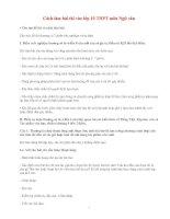Gián án cách làm bài thi môn văn THCS