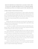 MỘT SỐ Ý KIẾN ĐỀ XUẤT NHẰM NÂNG CAO CHẤT LƯỢNG CÔNG TÁC KẾ TOÁN TẬP HỢP CHI PHÍ SẢN XUẤT VÀ TÍNH GIÁ THÀNH SẢN PHẨM TẠI CÔNG TY CỔ PHẦN GẠCH TUYNEL TRƯỜNG LÂM