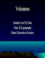 Tài liệu sermina về núi lửa - Volcanoes
