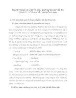 THỰC TRẠNG VỀ VKD VÀ HIỆU QUẢ SỬ DỤNG VKD TẠI CÔNG TY CỔ PHẦN XÂY LẮP ĐÔNG ANH