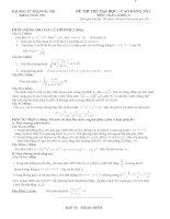 Bài giảng Đề-đ.a 1 thi thử ĐHSPHN