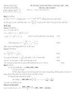 Bài giảng ĐỀ THI HỌC SINH GIỎI TOAN 9(CO DAP AN)