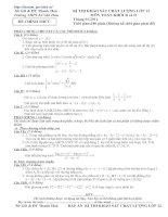 Bài soạn Đề 7- thi thử đại học- Lời giải chi tiết