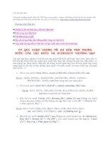 Qui luật chung về sự hòa tan trong nước của các muối và hidroxit