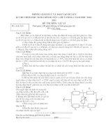 Bài giảng DE THI HSG LY 9 HOT