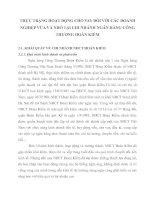 THỰC TRẠNG HOẠT ĐỘNG CHO VAY ĐỐI VỚI CÁC DOANH NGHIỆP VỪA VÀ NHỎ TẠI CHI NHÁNH NGÂN HÀNG CÔNG THƯƠNG HOÀN KIẾM