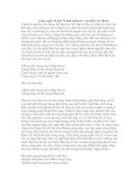 Gián án Cảm nghĩ về bài thơ Cảnh khuya - HCM