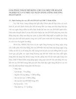 GIẢI PHÁP NHẰM MỞ RỘNG CHO VAY ĐỐI VỚI DOANH NGHIỆP VỪA VÀ NHỎ TẠI NGÂN HÀNG CÔNG THƯƠNG HOÀN KIẾM