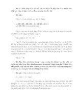 Bài soạn 10 DE, DAP AN TOAN CHON LOC (PHAN IV)
