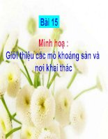 Gián án Minh hoa Bai 15 - Gioi thieu  cac mo khoang san va noi khai thac.