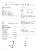 English Vocabulary Organiser with Key_Problems around the house