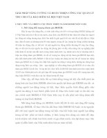 GIẢI PHÁP TĂNG CƯỜNG VÀ HOÀN THIỆN CÔNG TÁC QUẢN LÝ THU CHI CỦA BẢO HIỂM XÃ HỘI VIỆT NAM
